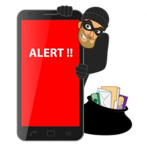 Hacker-step-with-smart-phone